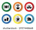 food vector icon set  flat... | Shutterstock .eps vector #1957448668