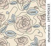 one line seamless modern... | Shutterstock .eps vector #1957492615