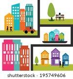 cityscape  modern city life...   Shutterstock .eps vector #195749606