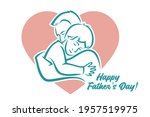 father and son hugging   happy... | Shutterstock .eps vector #1957519975