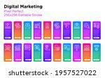 digital marketing thin line...   Shutterstock .eps vector #1957527022
