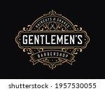 vintage luxury badge logo... | Shutterstock .eps vector #1957530055