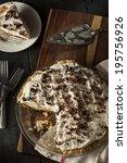 homemade black bottom cream pie ... | Shutterstock . vector #195756926