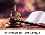 law code  gavel and books. | Shutterstock . vector #195759875