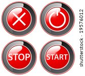 on off   buttons | Shutterstock .eps vector #19576012