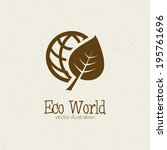 abstract eco world symbol on a... | Shutterstock .eps vector #195761696