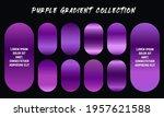 purple gradients swatches set...