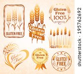 gluten free labels  package... | Shutterstock .eps vector #195762692