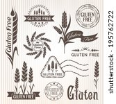 gluten free labels  package... | Shutterstock .eps vector #195762722