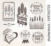 gluten free labels  package... | Shutterstock .eps vector #195762725