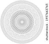 circular pattern mandala flower ... | Shutterstock .eps vector #1957663765