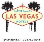las vegas summer hotel motel... | Shutterstock .eps vector #1957694545