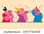 problems in communication...   Shutterstock .eps vector #1957732435