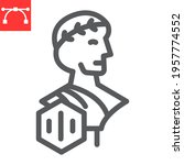 greek statue with nft line icon ... | Shutterstock .eps vector #1957774552