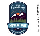camping wilderness adventure... | Shutterstock . vector #195778796