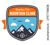 mountain climbing adventure...   Shutterstock . vector #195778808