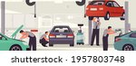 car service and repair. auto... | Shutterstock .eps vector #1957803748