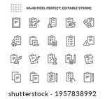 simple set of clipboard related ... | Shutterstock .eps vector #1957838992