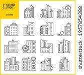 building icons set   editable...   Shutterstock .eps vector #1957854388