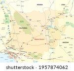 Vector Map Of The Mojave Desert ...