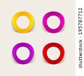 realistic design element ... | Shutterstock . vector #195787712