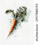 Carrot Wall Art Watercolor...