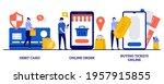 debit card  online order ... | Shutterstock .eps vector #1957915855