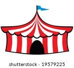 vector big top circus tent | Shutterstock .eps vector #19579225