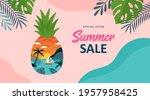 summer background template for... | Shutterstock .eps vector #1957958425