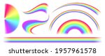rainbow icon  vector... | Shutterstock .eps vector #1957961578