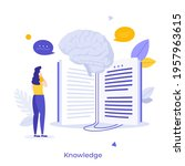 student or researcher reading... | Shutterstock .eps vector #1957963615