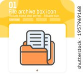 files archive box icon with...