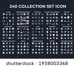 240 modern thin line icons....