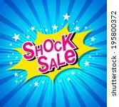 shock sale. | Shutterstock .eps vector #195800372