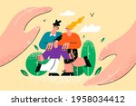 family with children protection ... | Shutterstock .eps vector #1958034412