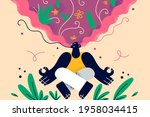 healthy lifestyle  meditation ...   Shutterstock .eps vector #1958034415
