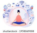 information detox. digital... | Shutterstock .eps vector #1958069008