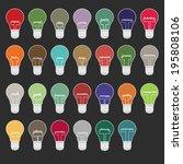 light bulb marketing words...   Shutterstock .eps vector #195808106