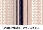 abstract irregular houndstooth... | Shutterstock . vector #1958105518