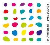 random blob colorful organic... | Shutterstock .eps vector #1958106415