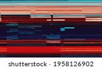 Small photo of Glitch artifact video - Distortion noise - Glitch Art pixeled interference distorted digital data cyber noise - bad tv signal and transmission