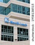 Small photo of Ft Lauderdale Florida Apri 2, 2021 Merrill Lynch Brokers Office