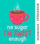 cute coffee cup cartoon... | Shutterstock .eps vector #1958163418