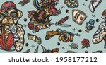dogs. evil doberman and crime... | Shutterstock .eps vector #1958177212