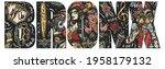 bronx slogan. hip hop girl and... | Shutterstock .eps vector #1958179132
