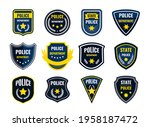 police badge. security... | Shutterstock .eps vector #1958187472
