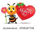 happy mother's day. cartoon... | Shutterstock .eps vector #1958187748