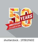50th year anniversary... | Shutterstock .eps vector #195819602