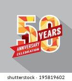 50th year anniversary...   Shutterstock .eps vector #195819602