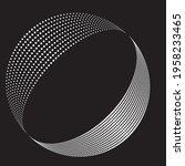 halftone dots in semi circle...   Shutterstock .eps vector #1958233465